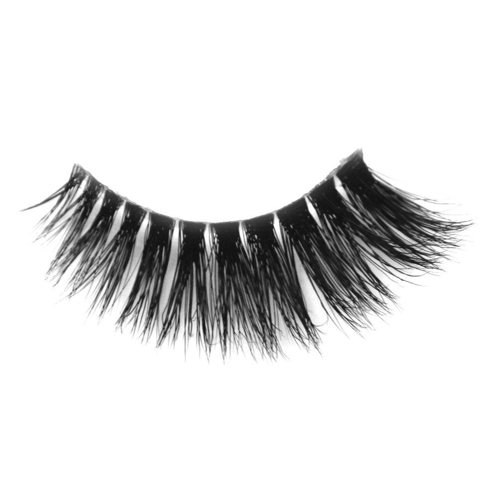 Invisible band 100% Siberian Mink fur New Fashionable 3D False Eyelashes Natural