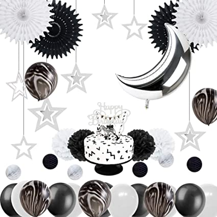 Terrific Amazon Com Monochrome Safari 1St Birthday Party Decoration Black Funny Birthday Cards Online Alyptdamsfinfo