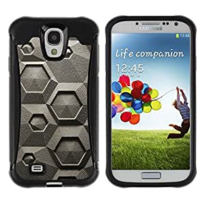 Fuerte Suave TPU GEL Caso Carcasa de Protección Funda para Samsung Galaxy S4 I9500 / Business Style Chalk Macroscopic Microscope