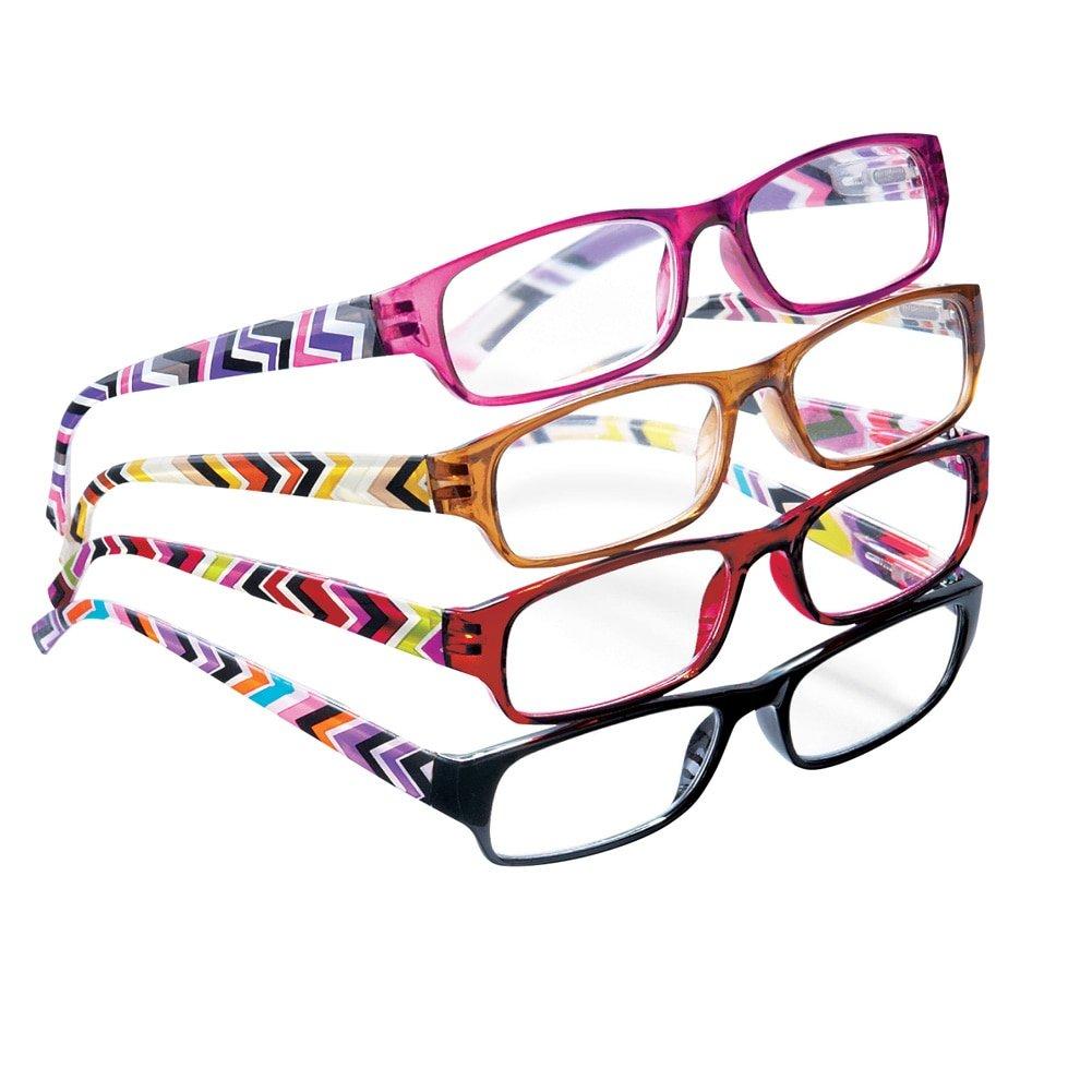 Fashion Reader Glasses - Set Of 4, Multicolored, 2.00X