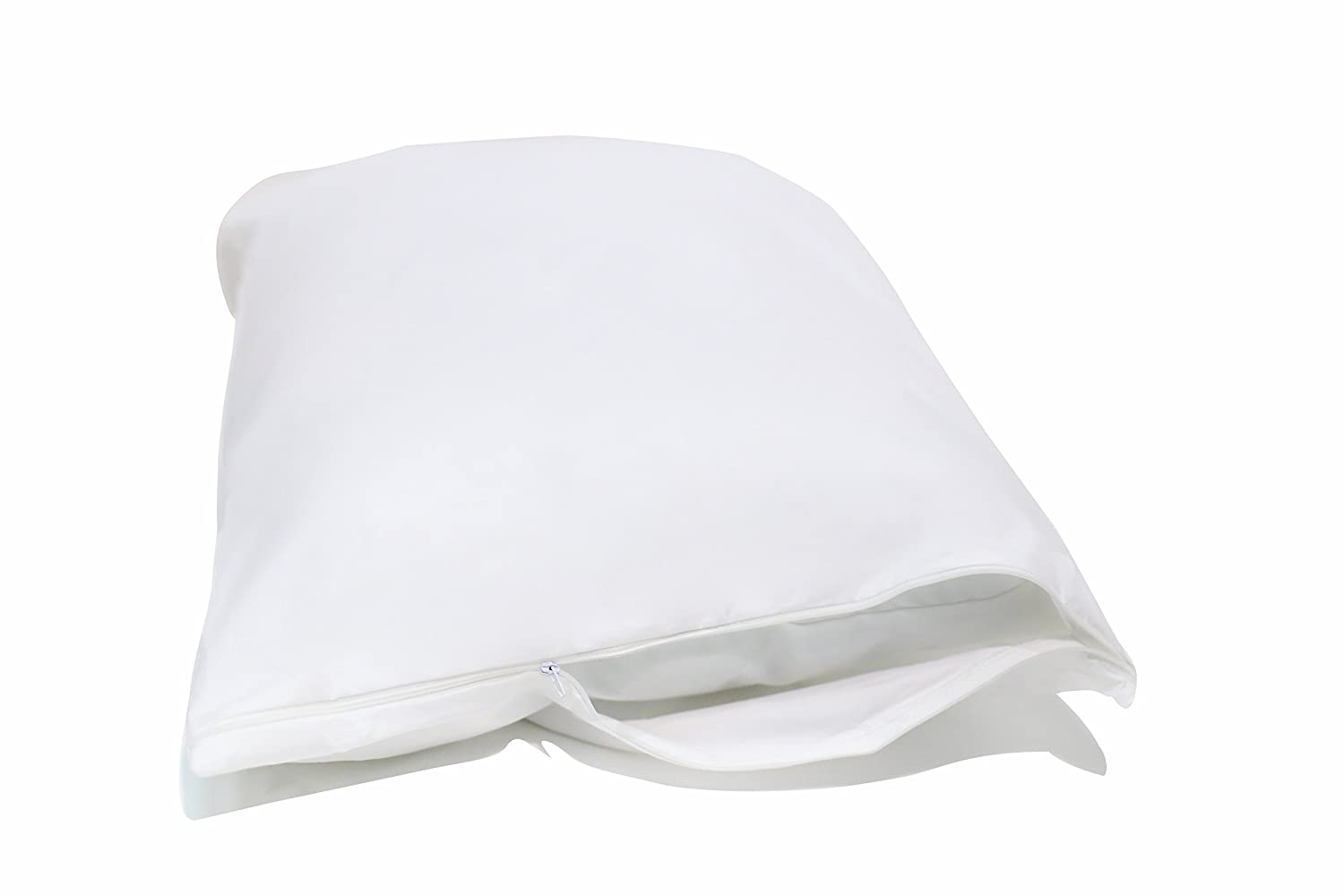 National Allergy Queen 2 Pack Allergy and Bed Bug Proof Pillow Cover, WHITE