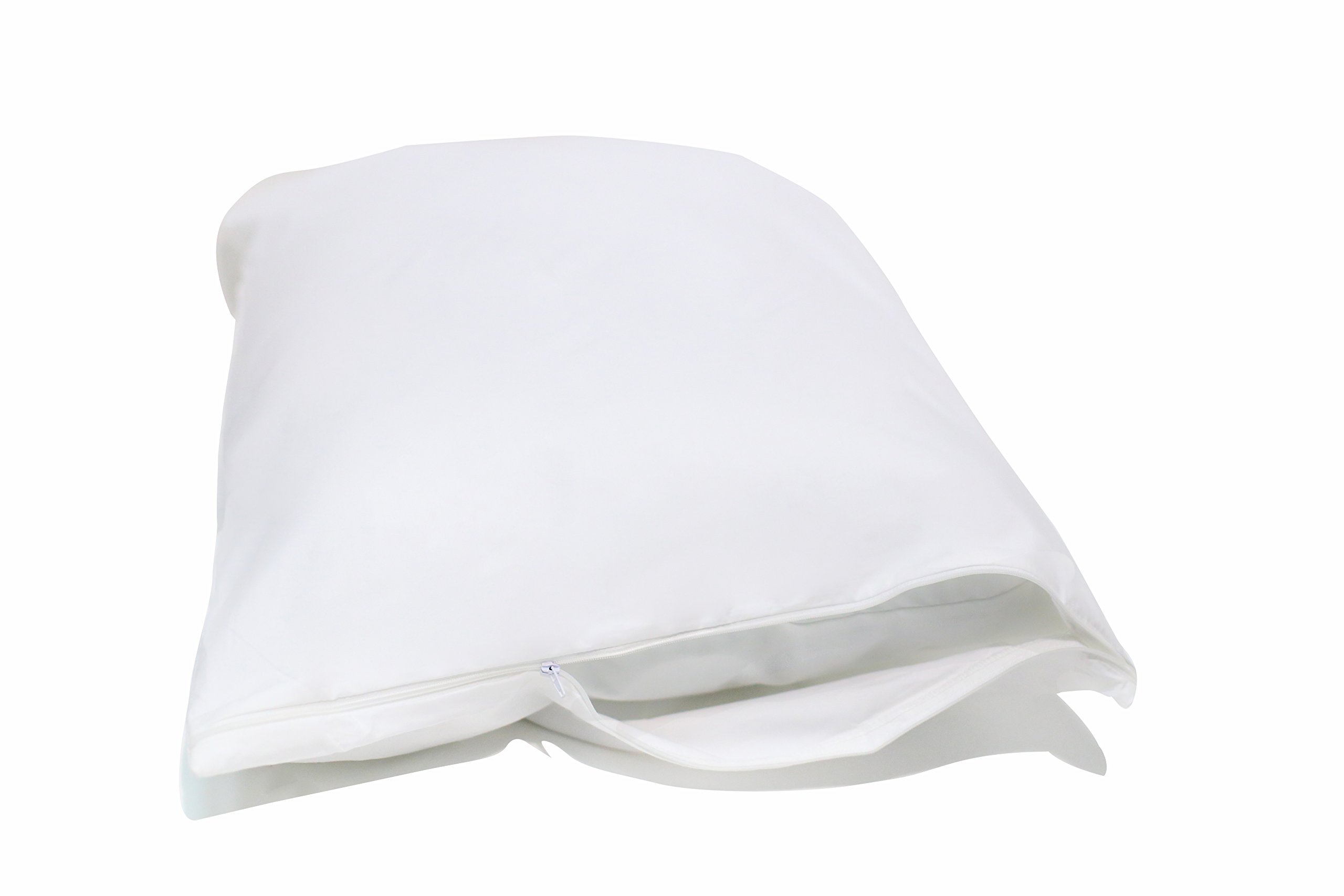Allersoft Standard 2 Pack Allergy and Bed Bug Proof Pillow Cover, White by Allersoft