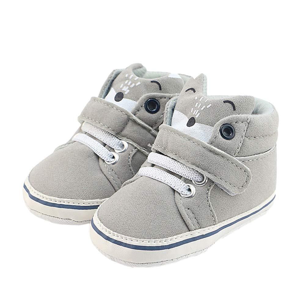 Size 16 BESTOYARD Baby Boys Girls Sneaker Anti-Slip Prewalkers Soft Sole Shoes for Infants Toddlers Grey