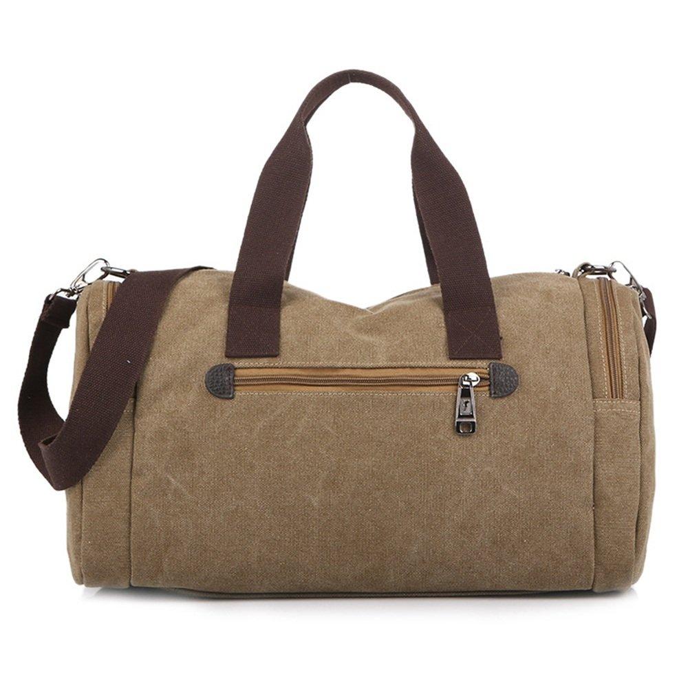 Ybriefbag Unisex Leisure Travel Bag Bag Large Capacity Portable Canvas Xiekua Retro Leisure Canvas Bag Vacation