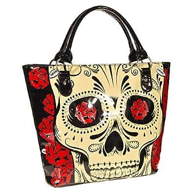 Jawbreaker Women's Rose Skull Tote Bag - One Size, Black
