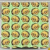 Mexican Taco Wicked Gainz Shower Curtain Fabric Bathroom Shower Curtain Set,72x60 Inch