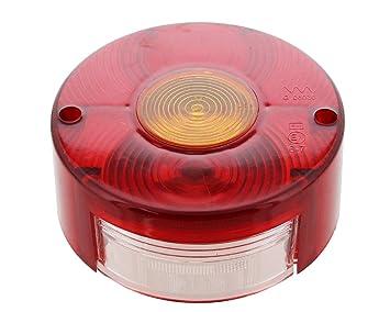 Lichtscheibe Ersatzglas rund mit KZL für DDR Rückleuchte Rücklicht Pkw Anhänger