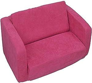 Fun Furnishings Toddler Flip Sofa, Hot Pink