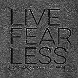 Kerusso Men's Live Fear Less T-Shirt - Dark Grey -SM