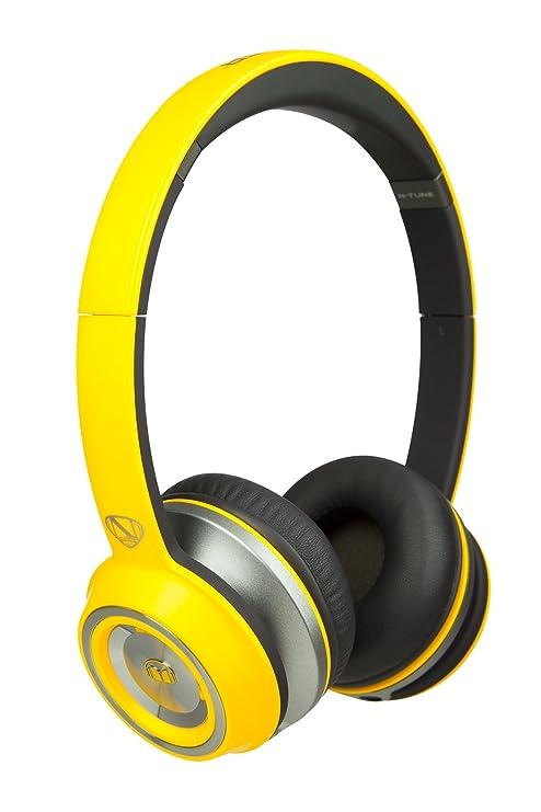 Monster N-Tune - Auriculares de diadema cerrados, color amarillo