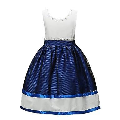 0b4c075b4cca Amazon.com  2-9 Years Flower Girls Dress Rhinestone Beaded Wedding ...