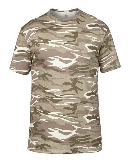 7ae5b90bad1cdc Anvil 5 Pack Mens Camouflage T Shirt  Amazon.co.uk  Clothing