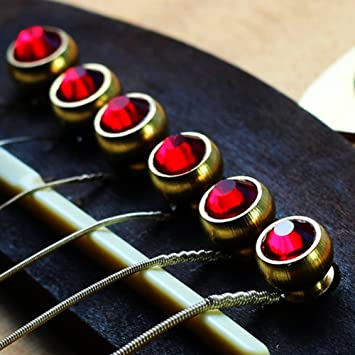 Alomejor 6PCS Puente Pin Material de Cobre Folk Guitarra Acústica ...
