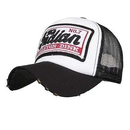 Amlaiworld_Gorras Gorras de béisbol Verano Bordada de Unisexo Hombre Mujer Visor Sombreros de Malla para Hombres