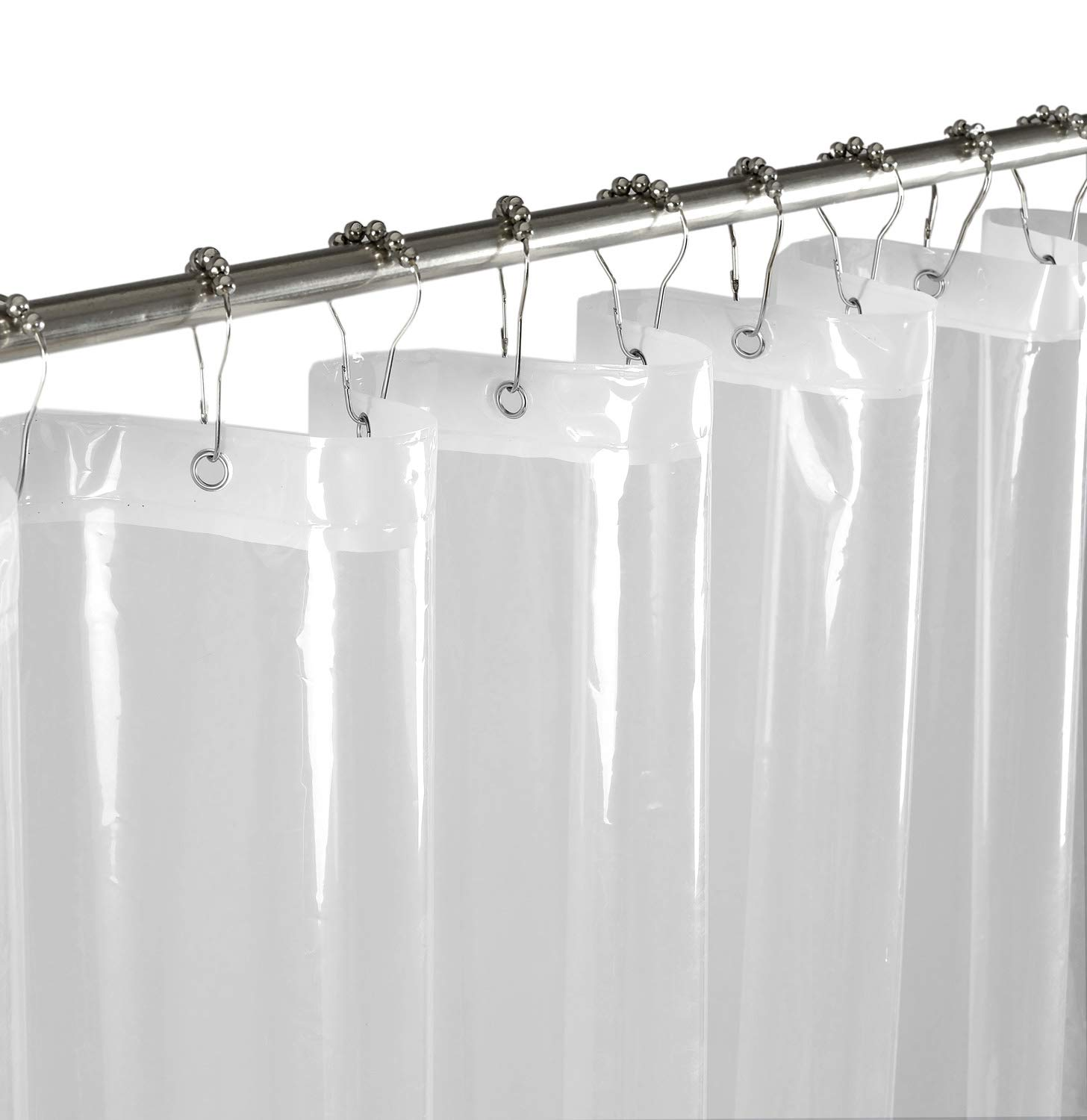Mrs.Awesome PEVA Mold & Mildew Resistant Odorless Shower Curtain or Liner made from PVC-free -70X72 - Non Toxic, Eco-Friendly, PVC-free, Rust Proof Grommets, 3 magnets at bottom. (Clear)