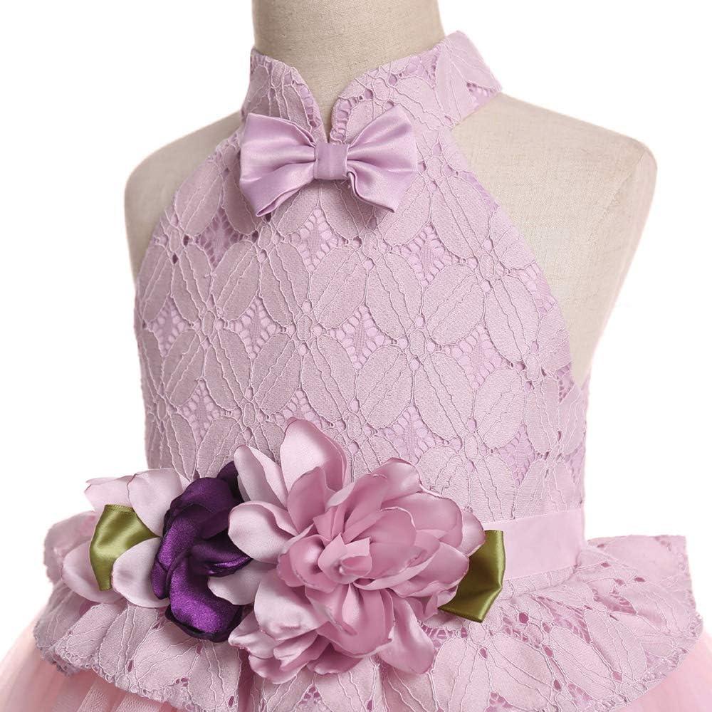 Cichic M/ädchen Kleider Partei Kleider Elegant Kinder Prinzessin Kleid Kinder Hochzeits Geburtstag Kleid Blumenm/ädchen Formale Kleid 2-10 Jahre