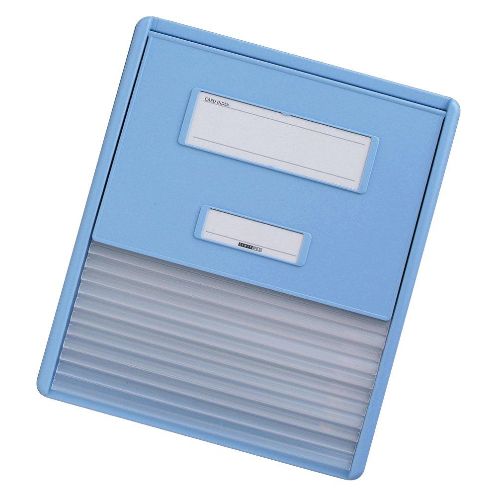リヒトラブ カラーカードインデックス  HC111C-2 A4 ブルー B005GDWJR8 A4 11ポケット|ブルー ブルー A4 11ポケット