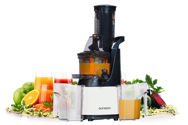 Oursson Extractor de zumo de frutas y verduras Vitality, tecnología de prensado en frío, 1 Litro, 240 Vatios, JM6001/IV: Amazon.es: Hogar