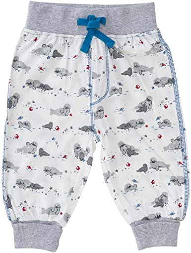 People wear organic - Pantalón para bebé (algodón orgánico), diseño de Foca Weiß Bedruckt 86 cm-92 cm: Amazon.es: Ropa y accesorios