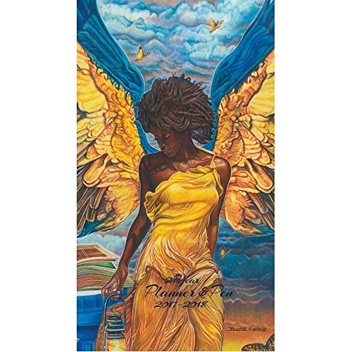 Shades of Color Angelic Guidance Two Year 2017/2018 African American Checkbook Planner (C128)