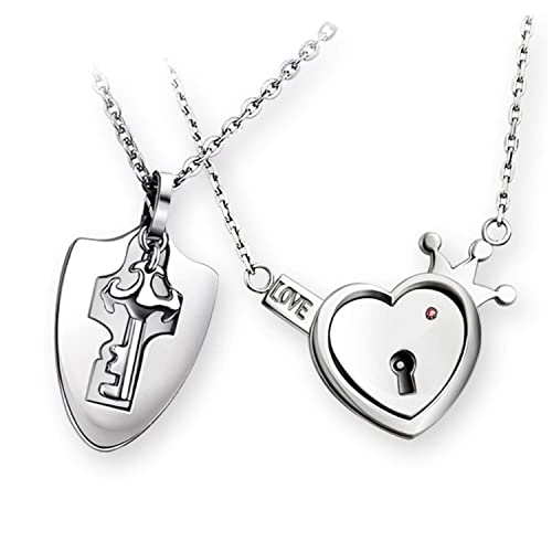 60% de liquidación tienda oficial estilo novedoso Cadena de plata para parejas, hombre, mujer, llaves, bloqueo ...