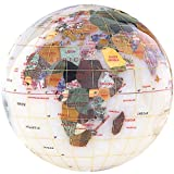 Gemstone Globe Paperweight with Opalite Ocean Color: Opal, Size: 4''