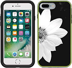 Teleskins Protective Designer Vinyl Skin Decals Compatible with Lifeproof Slam iPhone 7 Plus/iPhone 8 Plus Case - Sunflower Black and White Design Pattern - only Skins and not Case
