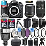 Holiday Saving Bundle for D7100 DSLR Camera + 18-105mm VR Lens + Tamron 70-300mm Di LD Lens + Backup Battery + 1yr Extended Warranty + Flash + 2 Of Ultra Fast 16GB Class 10 - International Version