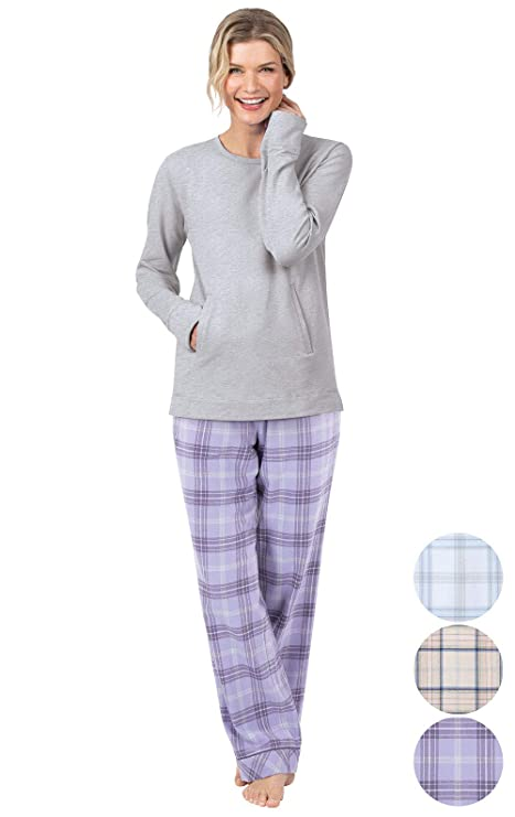 Addison Meadow Flannel Pajamas Women - Pajama Set for Women, Lavender, L, 12-14 best women's winter pajamas