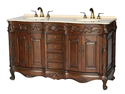 Amazon Com 60 Inch Antique Style Double Sink Bathroom Vanity Model