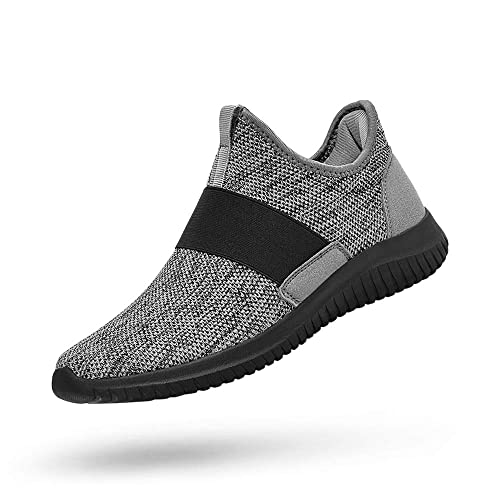 Sunnycree Mens Slip-on Mesh Sneakers Lightweight Breathable Athletic Running Walking Gym Shoes