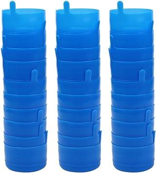 KisSealed 30 Pieces Non Spill Caps, Reusable 55 mm 3 and 5 Gallon Water Jugs Anti-Splash Bottle Caps