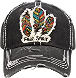 #2: Funky Junque Womens Baseball Cap Distressed Vintage Unconstructed Embroidered Dad Hat