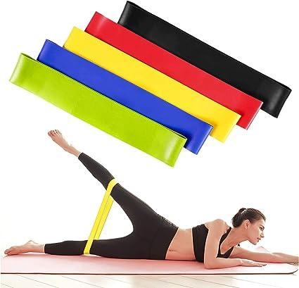 bandas de resistencia para piernas y bandas de ejercicio de glúteos,SET OF 5