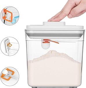 BSUDILOK 2300mL Kitchen Sealed Cans Grain Storage Box Milk Powder Coffee Bean Moisture-proof Storage Jar