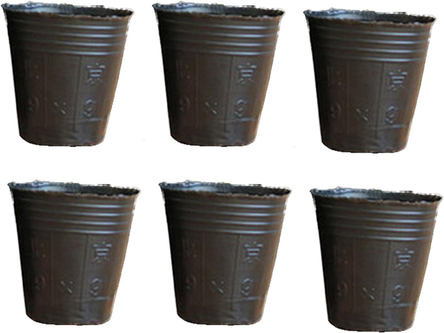 200Pcs desechables plantas de plástico macetas bandeja de semillas perfecto para plantas de jardinería al aire libre en interiores 3.94 x 3.74 pulgadas