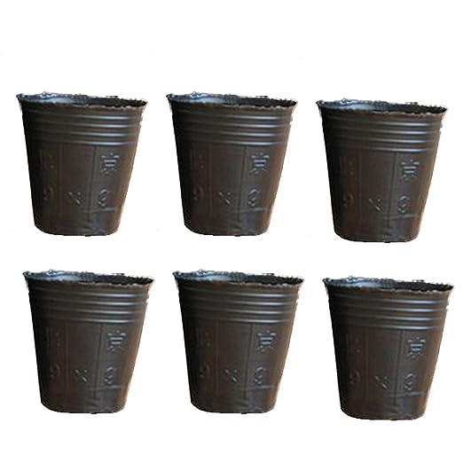 200pcs desechables plantas de plástico macetas bandeja de semillas ...