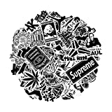 Breezypals Stickers, Laptop Stickers Car Motorcycle Bicycle Luggage Decal Graffiti Patches Skateboard Sticker Pack (Black Stickers 100 Pcs)