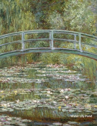 Water Lily Pond: by Claude Monet: A Large (8.5