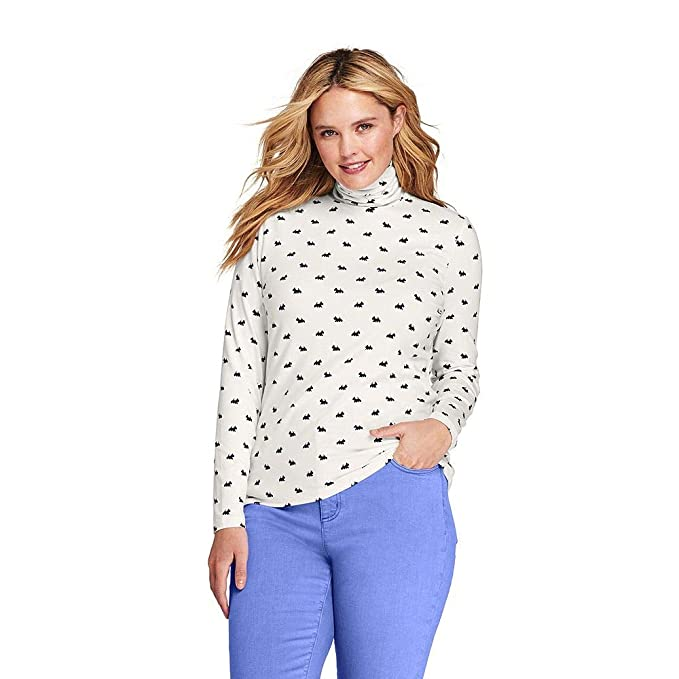 2c608088b8d0c6 Image Unavailable. Image not available for. Color  Lands  End Women s Plus  Size Lightweight Fitted Turtleneck Layering ...
