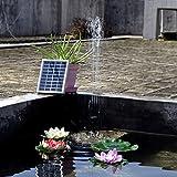 Simply Silver - Solar Power Water - 1.2W Solar Power Water Pump Panel Kit for Pool Garden Pond Birdbath Fountain
