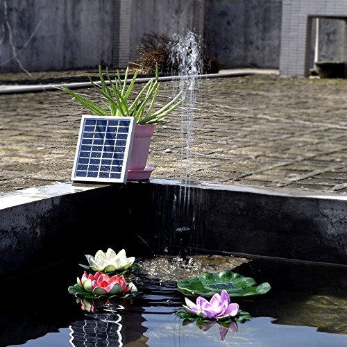 Simply Silver - Solar Power Water - 1.2W Solar Power Water Pump Panel Kit for Pool Garden Pond Birdbath Fountain by Simply Silver
