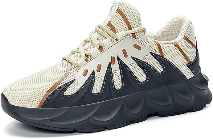 HS-MANWEI Zapatillas Deportivas para Caminar Deportivas Transpirables para Adultos Zapatillas Cruzadas Mixtas Zapatos Casuales para Estudiantes (Naranja, Gris),Negro,41UE: Amazon.es: Hogar