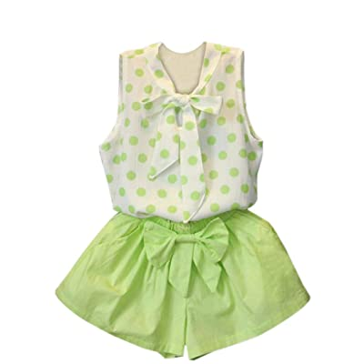 Tassel Shorts Set Toraway 2PCS Set Toddler Baby Kids Girls Outfit Clothes Bow Vest Tops