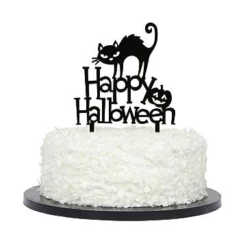 Geist Festival Schwarze Katze Englisch Alphabet Acryl Kuchen