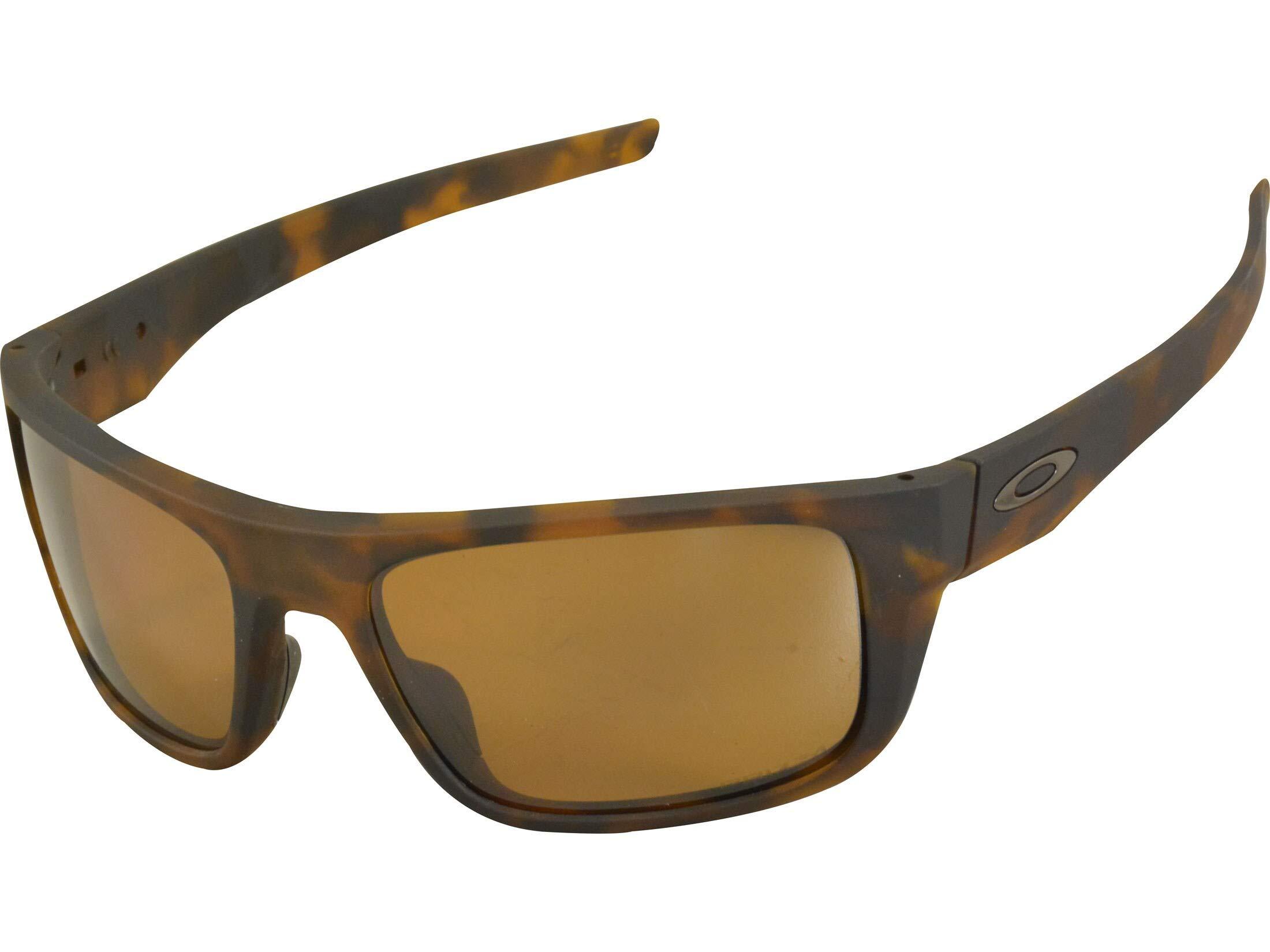 Oakley Men's OO9367 Drop Point Rectangular Sunglasses, Matte Tortoise/Prizm Tungsten Polarized, 61 mm by Oakley