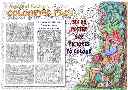 ARMAND FOSTER'S A3 COLOURING PACK No. 1 Armand Paper