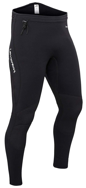 Lemorecn Wetsuits Pants 3mm Neoprene Swimming Canoeing Pants (1031blackL) by Lemorecn