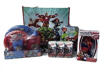 Los Vengadores - , cepillo de dientes y juego de papelería - Bolsa de regalo incluido: Amazon.es: Hogar