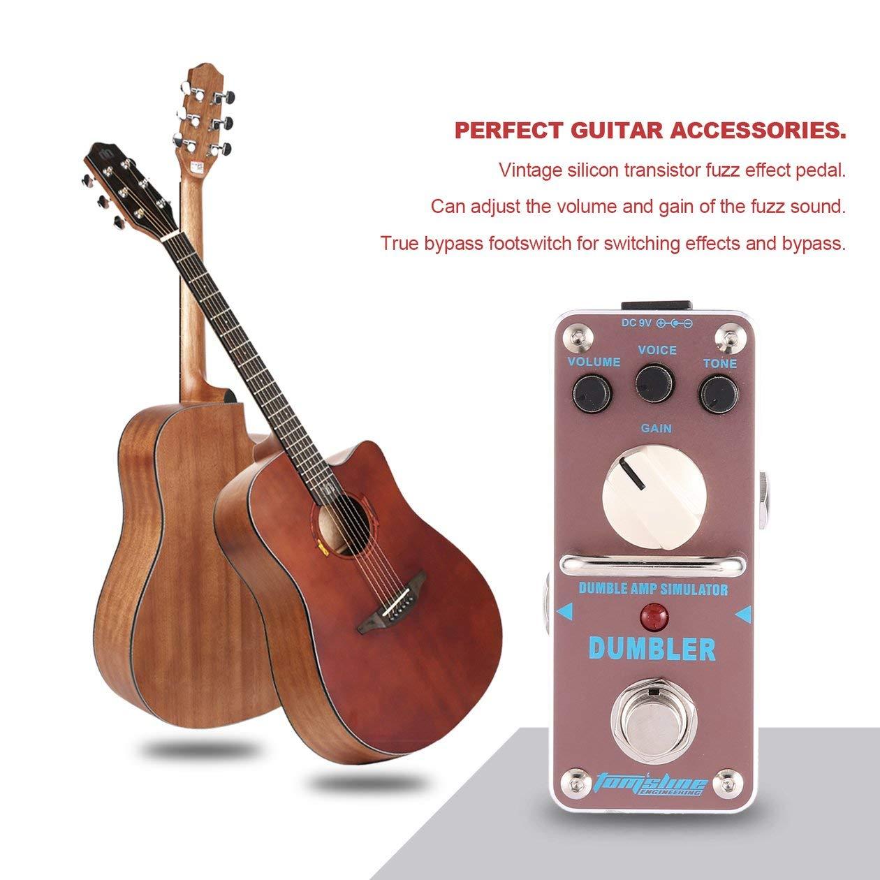 Simulador de amplificador Dumbler AROMA ADR-3 Mini Pedal de efecto de guitarra eléctrica con partes y accesorios de guitarra True Bypass: Amazon.es: ...
